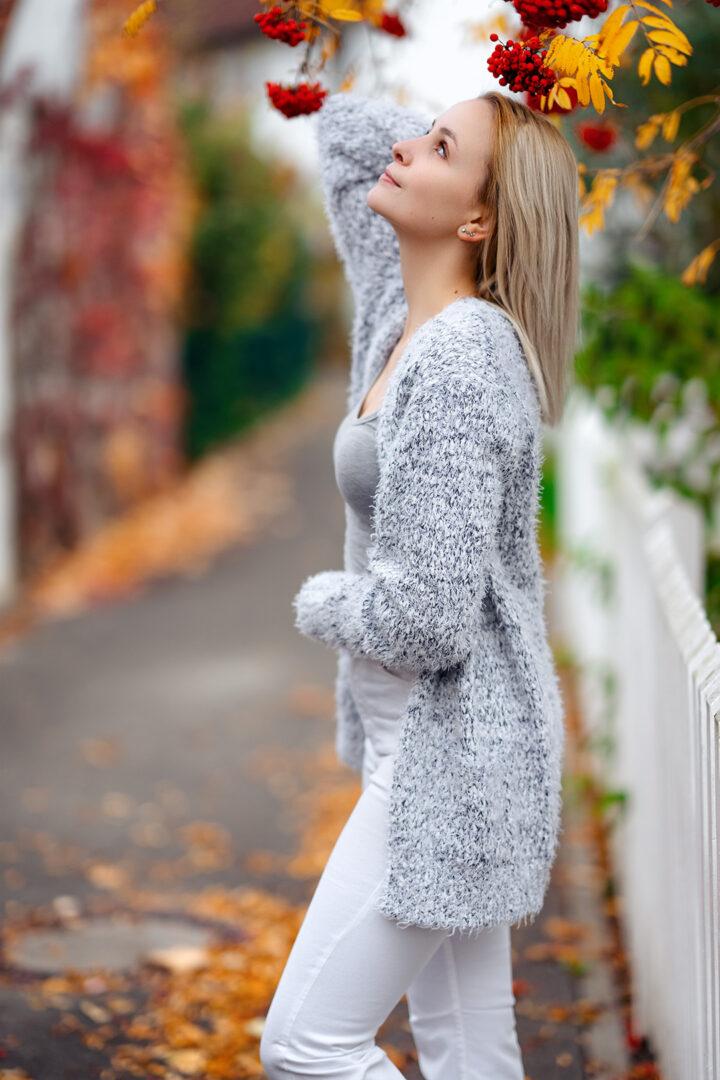 Mädchen in Herbstlicher Umgebung in Bamberg Gaustadt