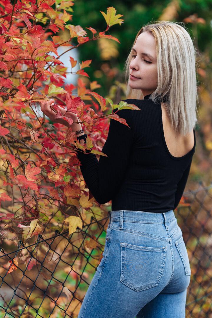 Mädchen in Herbstlicher Umgebung bei Bamberg
